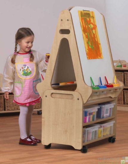 Double Sided Whiteboard Easel and Stand