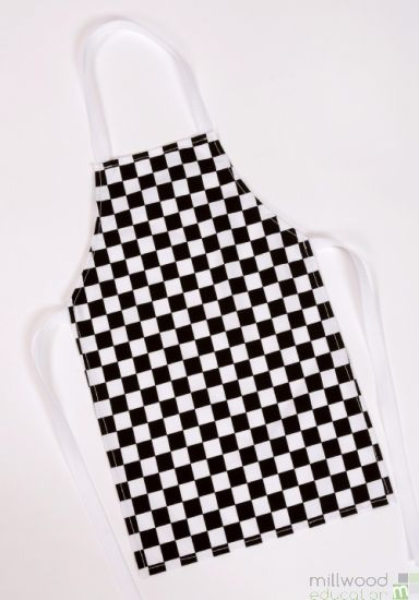 Adult Apron B&W Check