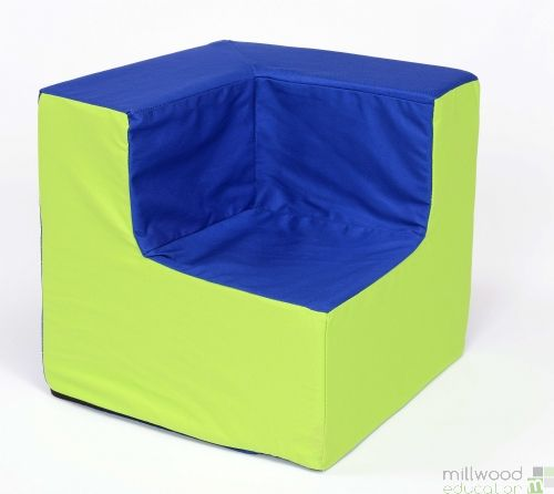 Toddler Corner Chair Blue/Lime
