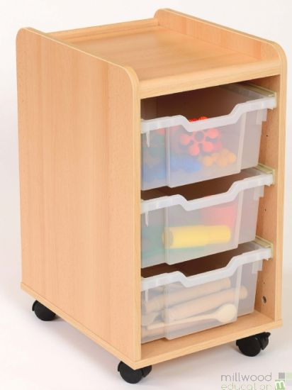TTS Storage Unit with 3 Deep Clear Trays