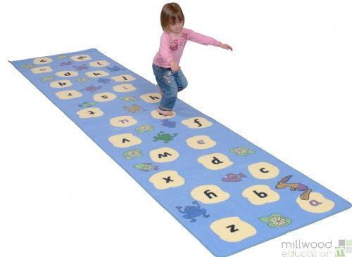 Hopping Hare Alphabet Stepping Stones Carpets