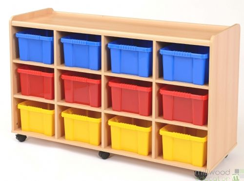 12 Deep Tray Unit with Coloured Trays