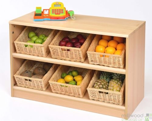 RS Angled Tidy Store Willow Baskets