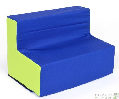 Toddler Sofa Blue/Lime