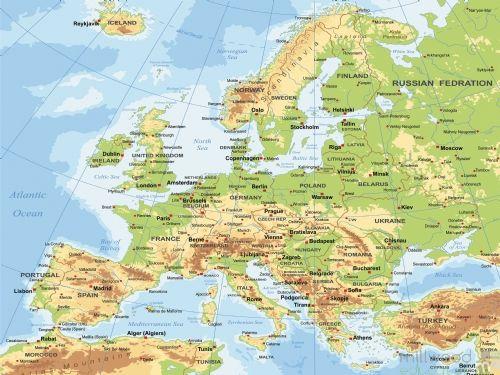Europe Map Wallboard