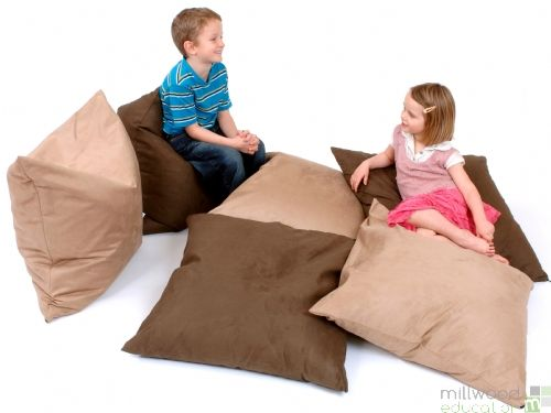 Giant Bean Floor Cushion Chocolate