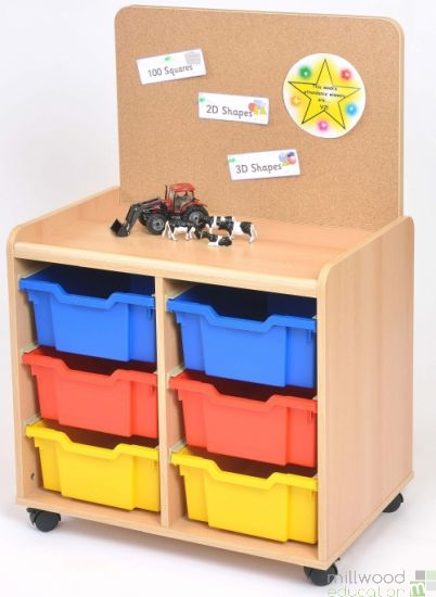 6 Deep TSS Unit with Cork Panel with Coloured Tray