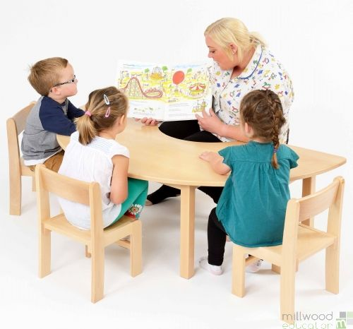 Beech Teacher Table 53cm H