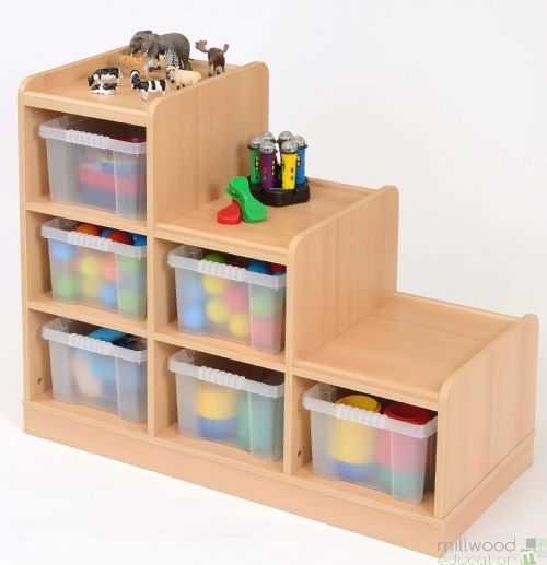 Right-Hand Tiered Unit with 6 Clear Trays