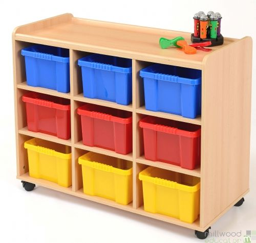 9 Deep Tray Unit with Coloured Trays