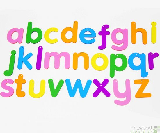 Rainbow Lowercase Alphabet (Set of 26)