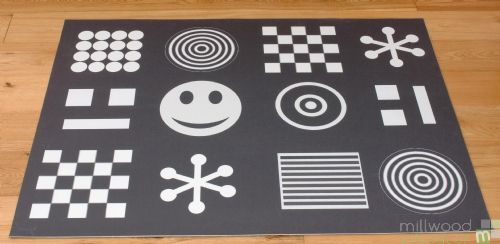 Black and White playmat