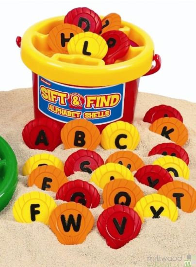Sift and Find Shells ALPHABET