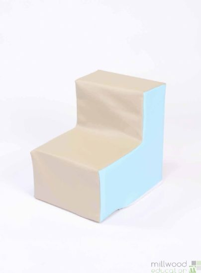Beige and Sky Blue Toddler Chair