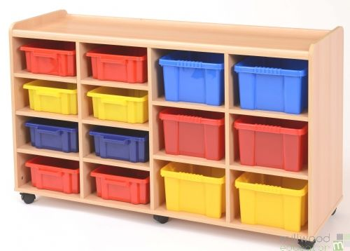 8 Shallow/6 Deep Tray Unit with Coloured Trays