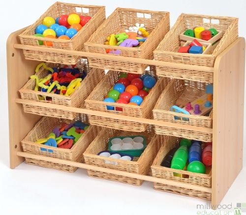 RS Classroom Tidy with 9 Willow Baskets