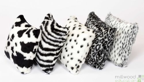 Cushions - Black and White Fur