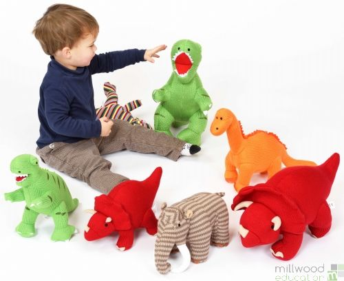Knitted Dinosaur Set