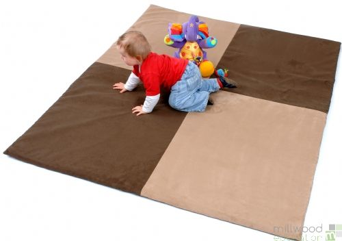 Padded Toddler Playmat With Zip - Natural