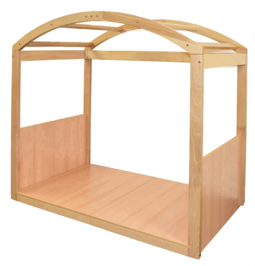A Millwood Education wooden stage setter